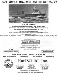 Maritime Reporter Magazine, page 4th Cover,  Dec 2001 Louisiana