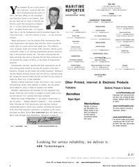 Maritime Reporter Magazine, page 6,  Dec 2001 Don Sutherland