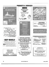Maritime Reporter Magazine, page 61,  Jan 2002