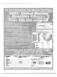 Maritime Reporter Magazine, page 68,  Jan 2002 Colorado