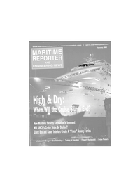 Maritime Reporter Magazine Cover Feb 2002 -