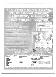 Maritime Reporter Magazine, page 3rd Cover,  Mar 2002