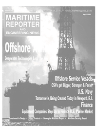 Maritime Reporter Magazine Cover Apr 2002 -