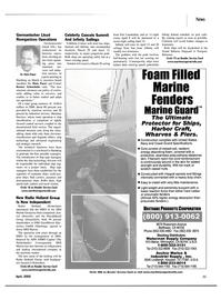 Maritime Reporter Magazine, page 11,  Apr 2002 Rainer Schondube