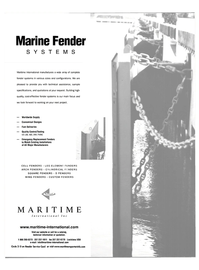 Maritime Reporter Magazine, page 7,  Apr 2002 MARINE FENDER SYSTEMS