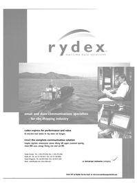 Maritime Reporter Magazine, page 1,  May 2002 ship/shore communication solution