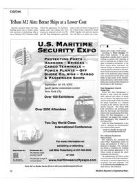 Maritime Reporter Magazine, page 14,  Jul 2002 Tribon Shipbuilding system
