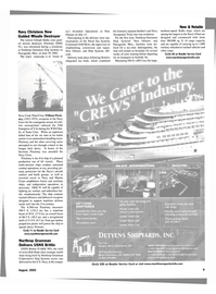 Maritime Reporter Magazine, page 9,  Aug 2002