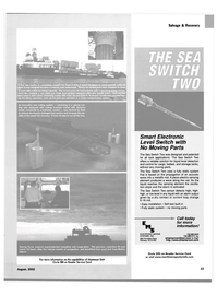 Maritime Reporter Magazine, page 4th Cover,  Aug 2002 tank applications