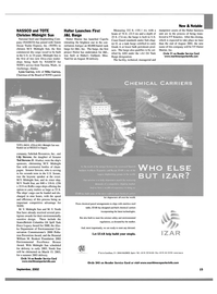 Maritime Reporter Magazine, page 13,  Sep 2002