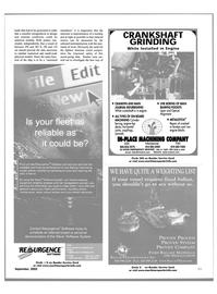 Maritime Reporter Magazine, page 23,  Sep 2002 cast iron engine