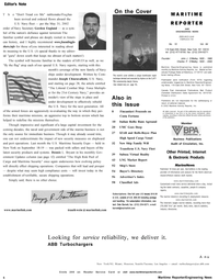 Maritime Reporter Magazine, page 6,  Oct 2002