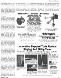 Maritime Reporter Magazine, page 21,  Nov 2002