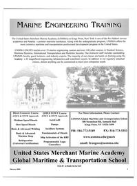Maritime Reporter Magazine, page 1,  Feb 2003