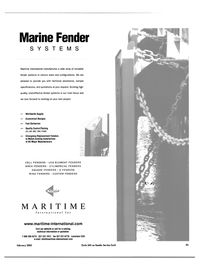 Maritime Reporter Magazine, page 43,  Feb 2003 fender systems