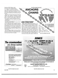 Maritime Reporter Magazine, page 35,  Mar 2003
