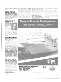 Maritime Reporter Magazine, page 47,  Mar 2003 Peter Swift