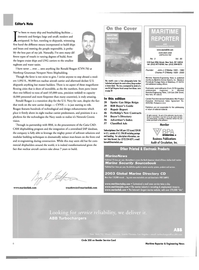 Maritime Reporter Magazine, page 6,  Mar 2003