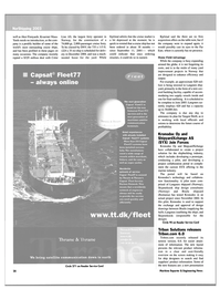 Maritime Reporter Magazine, page 28,  May 2003 Thrane