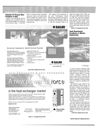 Maritime Reporter Magazine, page 36,  May 2003