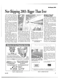 Maritime Reporter Magazine, page 37,  May 2003 installation hardware