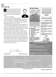Maritime Reporter Magazine, page 6,  May 2003 Dennis Bryant