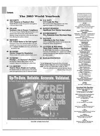 Maritime Reporter Magazine, page 2,  Jun 2003