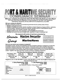 Maritime Reporter Magazine, page 82,  Jun 2003 Charley Havnen