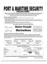 Maritime Reporter Magazine, page 42,  Jul 2003 Pat Touchard