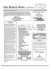 Maritime Reporter Magazine, page 59,  Jul 2003 Job Seekers