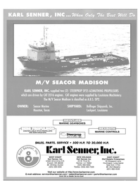 Maritime Reporter Magazine, page 4th Cover,  Jul 2003 Washington