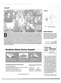 Maritime Reporter Magazine, page 8,  Aug 2003 New York