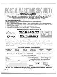 Maritime Reporter Magazine, page 19,  Aug 2003 Louisiana State Police HAZMAT Response Team