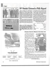 Maritime Reporter Magazine, page 30,  Aug 2003 Florida