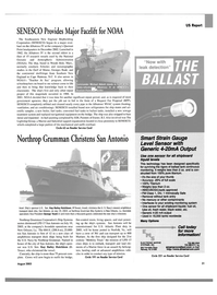 Maritime Reporter Magazine, page 31,  Aug 2003 New Jersey