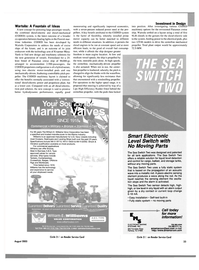 Maritime Reporter Magazine, page 33,  Aug 2003 machinery solutions