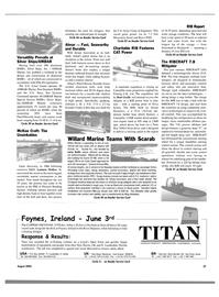 Maritime Reporter Magazine, page 37,  Aug 2003 Nova Scotia