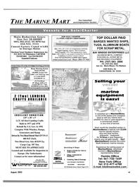 Maritime Reporter Magazine, page 59,  Aug 2003 Bill Gobel