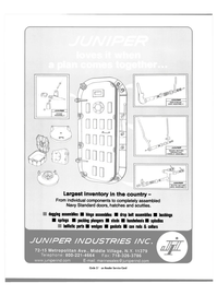Maritime Reporter Magazine, page 3rd Cover,  Aug 2003 Juniper Industries Inc.