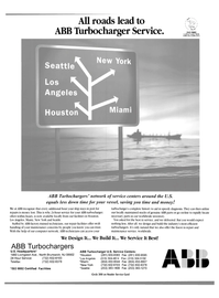 Maritime Reporter Magazine, page 4th Cover,  Aug 2003 ABB Turbocharger Service