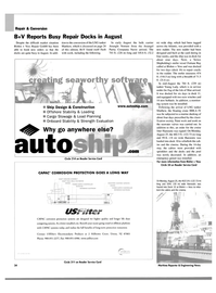 Maritime Reporter Magazine, page 36,  Oct 2003