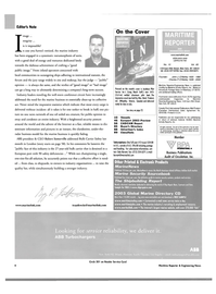 Maritime Reporter Magazine, page 6,  Oct 2003 Connecticut