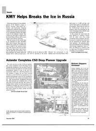 Maritime Reporter Magazine, page 100,  Nov 2003