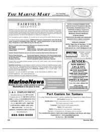 Maritime Reporter Magazine, page 111,  Nov 2003
