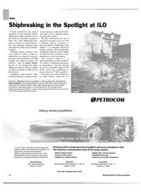 Maritime Reporter Magazine, page 14,  Nov 2003 the Spotlight