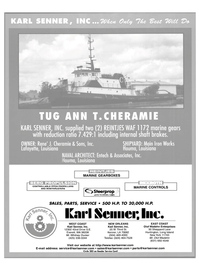 Maritime Reporter Magazine, page 1,  Nov 2003 Washington