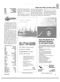 Maritime Reporter Magazine, page 33,  Nov 2003 Marine Propulsion Systems ZF Industries Inc. ZF Marine Gulf Coast Office