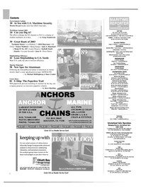 Maritime Reporter Magazine, page 2,  Nov 2003 South Carolina