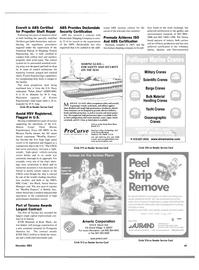 Maritime Reporter Magazine, page 68,  Nov 2003