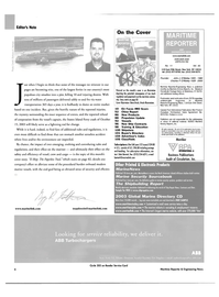 Maritime Reporter Magazine, page 6,  Nov 2003 Connecticut